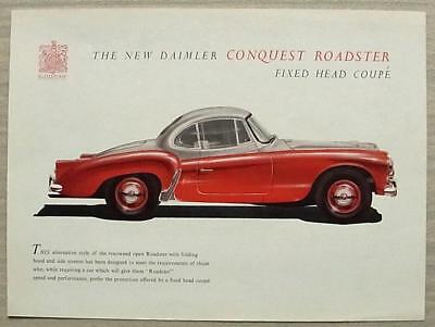 DAIMLER CONQUEST ROADSTER FIXED HEAD COUPE Car Sales Specification Leaflet c1955