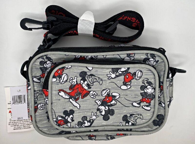 Disney Parks Mickey Mouse Sketch Crossbody Belt Waist Bag Fanny Hip Pack - NEW