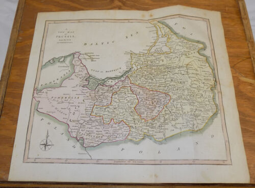1817 Antique COLOR Map by Cooke///PRUSSIA