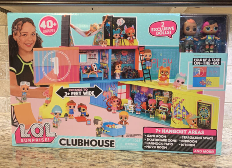 LOL Surprise Clubhouse Playset with 40+ Surprises and 2 Exclusives Dolls
