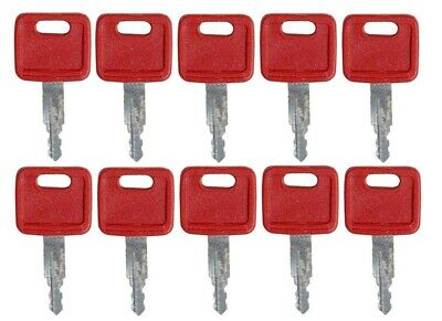 10 Keys For John Deere Hitachi Excavator Case Dozer New Holland H800 At194969