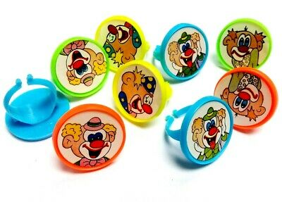 24pc CLOWN Rings kids party favor Pinata giveaways souvenirs gadget present - Clown Pinata