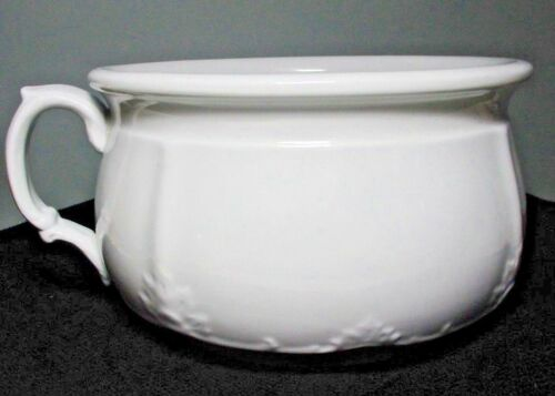 Antique ALFRED MEAKIN Royal Ironstone China Embossed CHAMBER POT ~ England