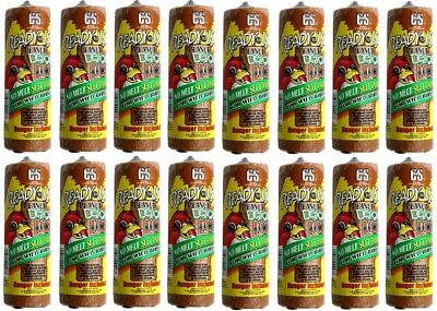 (16) ea C & S Products # 08907 16oz  Ready To Use Wild Bird Food Peanut Log