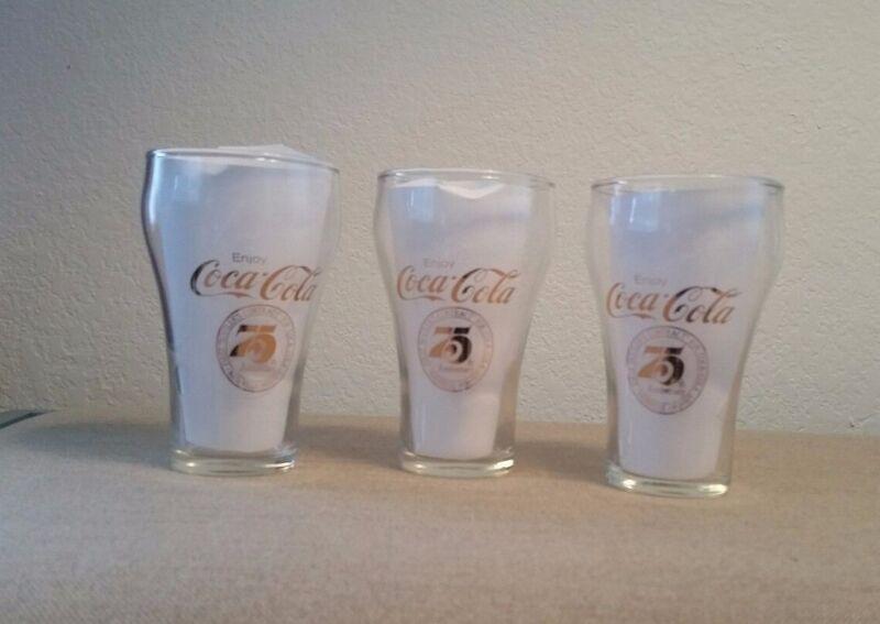 75th Anniversary Coca-Cola Glasses  *Nashville*  Set of 3