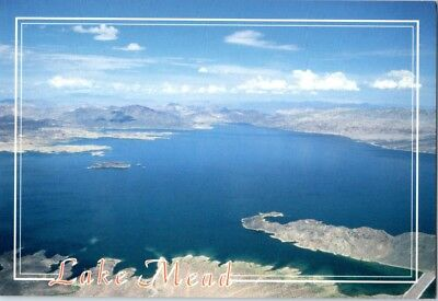 Lake Mead National Recreation Area Las Vegas postcard Aerial View WATER! NEW (Lake Mead National Recreation Area Las Vegas)