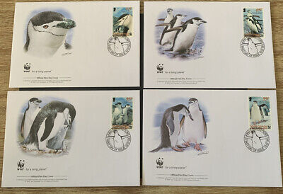 2008 Chinstrap Penguin WWF FDC & Stamps MUH South Georgia