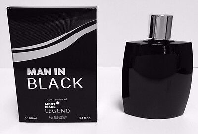 MAN IN BLACK by Secret Plus VERSION OF MONT BLANC 3.4 OZ EDP NEW IN SEALED BOX