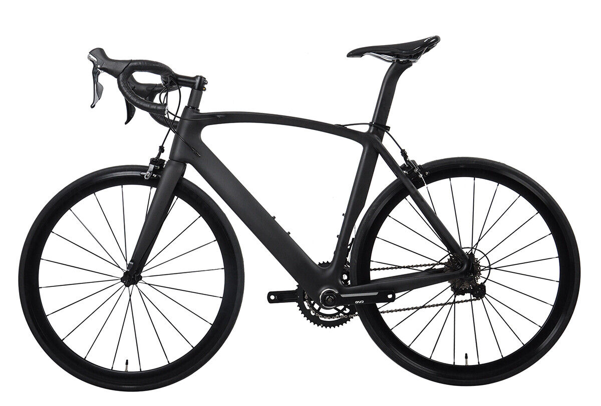 54cm AERO Road Bike Carbon Bicycle Frame Shimano 700C Wheels