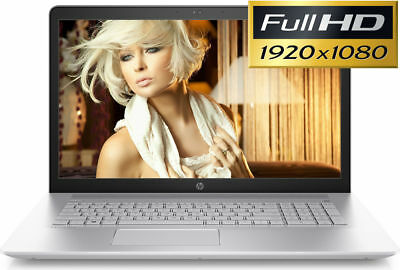 HP 17.3 Full-HD 8GB Ram A10-9620 3.40GHz 1TB DVD+RW WebCam Win10 Powerful Laptop
