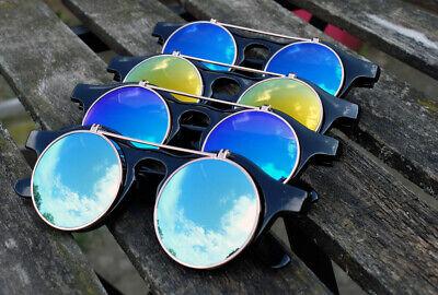 Runde Retro Sonnenbrille Flip up Lennon klappbare Gläser Damen Herren Mottoparty