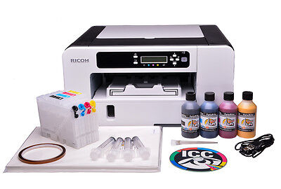 Ricoh Aficio SG3110DN Sublimation Ink Printer Bundle with Refillable Cartridges