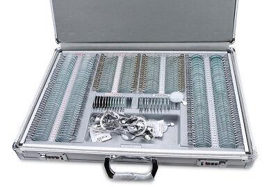 Optical Trial Lens Set Kit 266 Pcs Metal Rim Aluminum Case W Free Trial Frame
