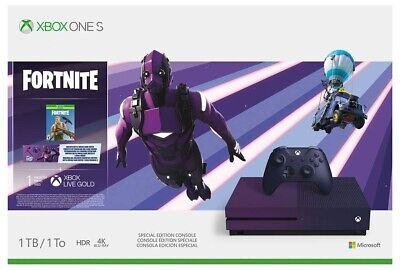 Microsoft Xbox One S 1TB Console Fortnite Special Edition Bundle [XBONE Purple]