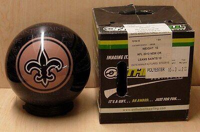 = 10 Bowling Ball Otb Viz-a-ball Rare 2010 Nfl Orleans Saints