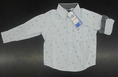 Boys Nautica Light Blue Button Up Long Sleeve Collar Shirt $37.50 Sizes: 2T - 4T