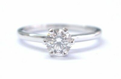 Jabel Platinum Round Cut Diamond Solitaire Engagement Ring H-SI1 .63Ct GIA XXX for sale  Los Angeles