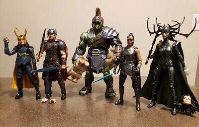 Marvel Legends Thor Lot - Thor - Loki - Hulk - Valkyrie  - Hela - Action Figures