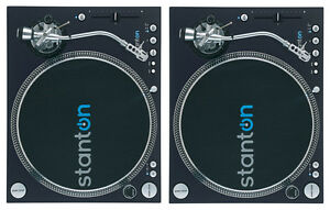 SEALED-2-STANTON-ST-150-DIRECT-DRIVE-TURNTABLES-TWIN-DJ-SET-w-CARTRIDGES