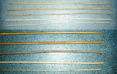 °°°5er Set Manila Rohrstock Cane 3x ungeschält und 2x geschält °°°spezial** 90cm