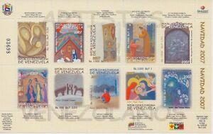 Venezuela-2007-Christmas-Resplendent-God-Painting-Sc-1682-MNH
