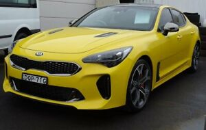 2017 Kia Stinger CK MY18 GT Fastback Yellow 8 Speed Sports Automatic Sedan Albion Park Rail Shellharbour Area Preview