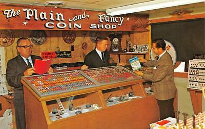 The Plain & Fancy Coin Shop, Bird-in-Hand, PA ca 1960s Vintage Postcard