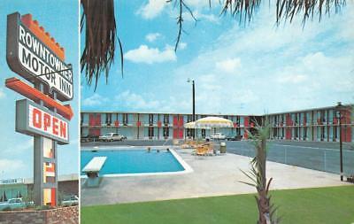 MANNING, SC South Carolina  ROWNTOWNER MOTOR INN Pool  ROADSIDE Chrome  Postcard - South Carolina Pool