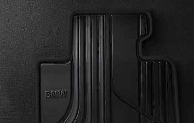 BMW Genuine All Weather Rubber Front  Rear Car Floor Mats Set Black F20 1 Serie