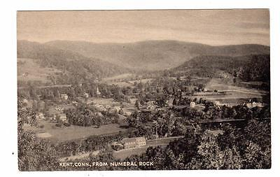 Ct   Kent Connecticut Postcard Birds Eye View From Numeral Rock