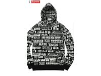 Supreme Hysteric Glamour Text Hoodie * black , XL *