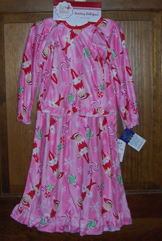 Elf on the Shelf Long Flannel Nightgown Toddler Girls Size 3T Plus Doll Gown NWT