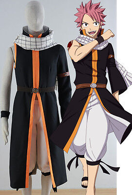 FAIRY TAIL Natsu Dragneel Cosplay Kostüm costume Kleidung Anime Cartoon Child v3