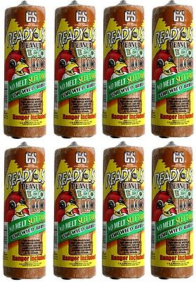 (8) ea C & S Products # 08907 16oz  Ready To Use Wild Bird Food Peanut Log