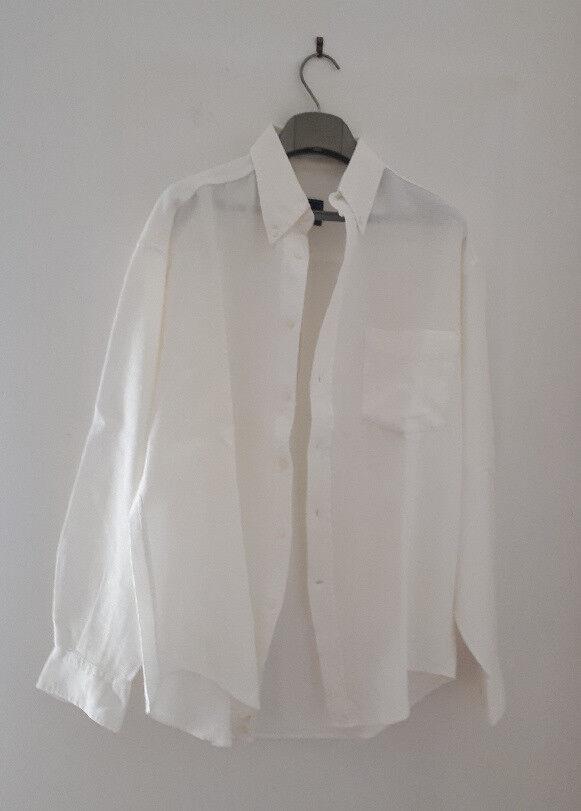 CAMICIA UOMO TRUSSARDI MADE IN ITALY TAGLIA M L abbigliamento casual 100% cotone