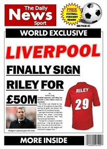 Personalised Liverpool Football Birthday Card