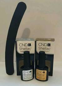 CND Shellac Top Coat and Base Coat UV Gel Polish