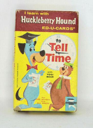 Huckleberry Hound Yogi Bear To Tell Time Fashcards ED-U-Cards In Box