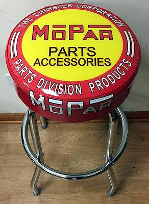 Mopar Chrysler Parts and Accessories Sign Shop Auto Bar Stool Stools