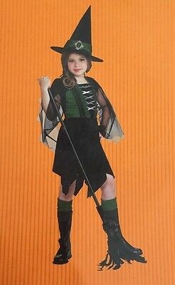GLAMOUR WITCH Halloween  Costume Girl's Sz Small 4-6 yrs Dress & Hat - Glamour Girl Halloween Costume