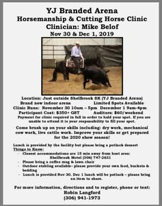 Cutting & Horsemanship Clinic Shellbrook Sk