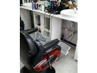 Barber and Hairdressers chairs to rent in Croydon
