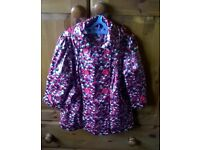 Girls Hooded Lined Autograph Coat