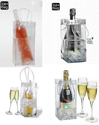 Ice bag basic trasparente secchiello borsa porta ghiaccio per bottiglia vino ecc