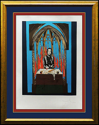 Salvador Dali Color Lithograph Authentic Original Artwork HAND SIGNED Inferno