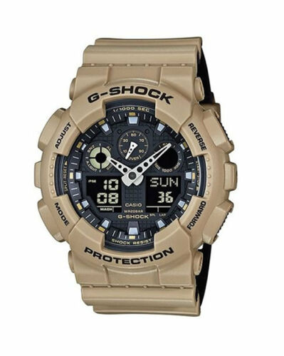 Casio G Shock Black Dial Sand Beige Military Resin Sports