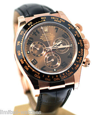 2017 Rolex Daytona Pink on Strap Chocolate Dial ! Box & Papers - NEW 116515