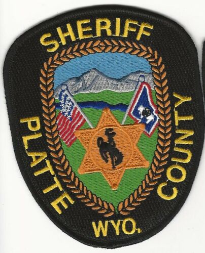 Platte County Sheriff State Wyoming WY patch Colorful