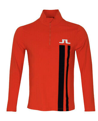 J LINDEBERG BOSE LIGHT NECK SWEATER 1/4 ZIP GOLF TOP LARGE BRAND NEW WITH TAGS