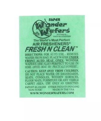 (Wonder Wafer Car/Truck Air Freshner FRESH N CLEAN Scent 1 Wafer)